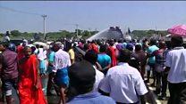 سری لنکا میں چینی تعمیراتی منصوبے کے خلاف احتجاج
