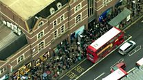 Crowds and queues: London's tube strike