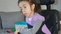 Boy's 'miracle' wheelchair gift to girl in Bosnia
