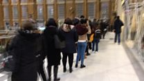 Забастовка метро Лондона: гигантская очередь на автобус