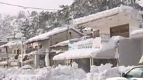 Snow blankets sunshine island