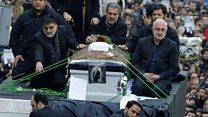 طهران تشيع الرئيس السابق رفسنجاني