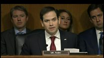 Rubio has testy exchange with Tillerson