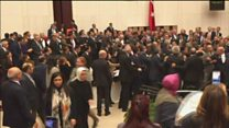 Fight breaks out in Turkish parliament