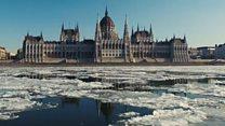 Тающие льды Дуная: съемки дрона