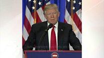 Donald Trump mu kiganiro ca mbere n'abanyamakuru
