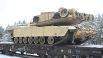 Convoy of US tanks arrives in Poland