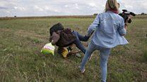 匈牙利女摄像记者因脚踢难民被判三年缓刑