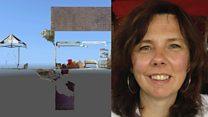 Helen Bailey: Jury taken to author's home