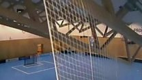 Sports hall roof collapses during match