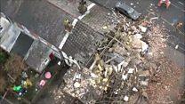 Drone footage captures blast aftermath
