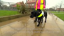 Girl 'one of youngest' to get guide dog