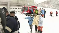 Family rescued from Japan mountain