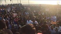 சென்னையில் நடந்த ஜல்லிக்கட்டு ஆதரவு ஆர்ப்பாட்டம்  (காணொளி)