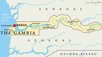 Why do we put 'The' in front of Gambia?