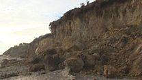 What causes cliffs to collapse?