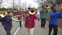 Route 45: Band prepares for inauguration