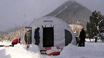 Inside Davos' Arctic basecamp