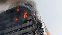 İran'ın başkenti Tahran'da 17 katlı bina çöktü