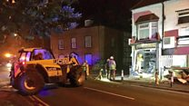 Thieves rip ATM out of wall with digger