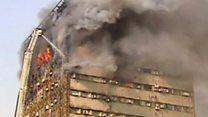 بالفيديو: انهيار مبنى في طهران