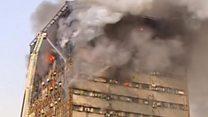У Тегерані обвалилась охоплена вогнем висотка
