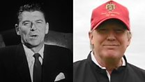 How does Trump compare to Reagan?