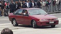 Melbourne footage shows erratic driver