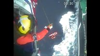 Man winched to safety from boat in three-metre swell