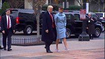 Ông bà Trump đã tới Nhà Trắng