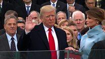 President Donald Trump sworn in