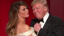 Trumps dance to My Way at inaugural ball