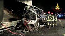 Italy bus crash kills Hungary pupils