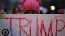 Trump: Protesters vs supporters