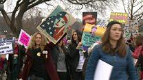 """أكثر من مليون شخص في """"مسيرة النساء"""" المناهضة لترامب"""