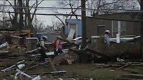 Tornado rips through Mississippi