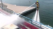 Jetpack firefighting takes off in Dubai