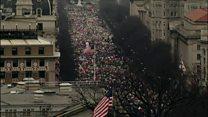 تظاهرات گسترده زنان در شهر واشنگتن
