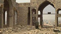 """الدمار يحل بـ """"ضريح النبي يونس"""" في الموصل"""