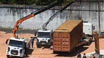 Brazil pisahkan geng yang berseteru di penjara dengan kontainer