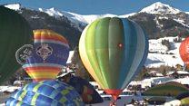 Чудернацькі повітряні кулі над Швейцарією