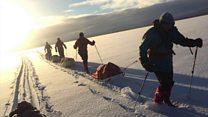 Antarctic trek for dead adventurer