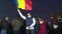 Romanians protest against prisoner-release plan