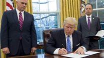 ТВ-новости: первый полный рабочий день президента Трампа