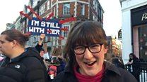 英国妇女在伦敦游行抗议特朗普