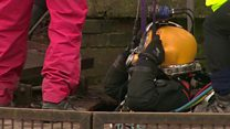 Diver winched down 40ft canal shaft