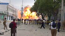بالفيديو: لحظة تفجير فندق مقديشيو