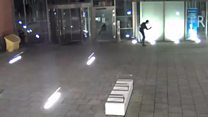 Man attacks town hall with hammer