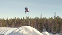 First ever snowmobile double backflip