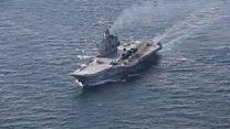 UK warship escorts Russian carrier